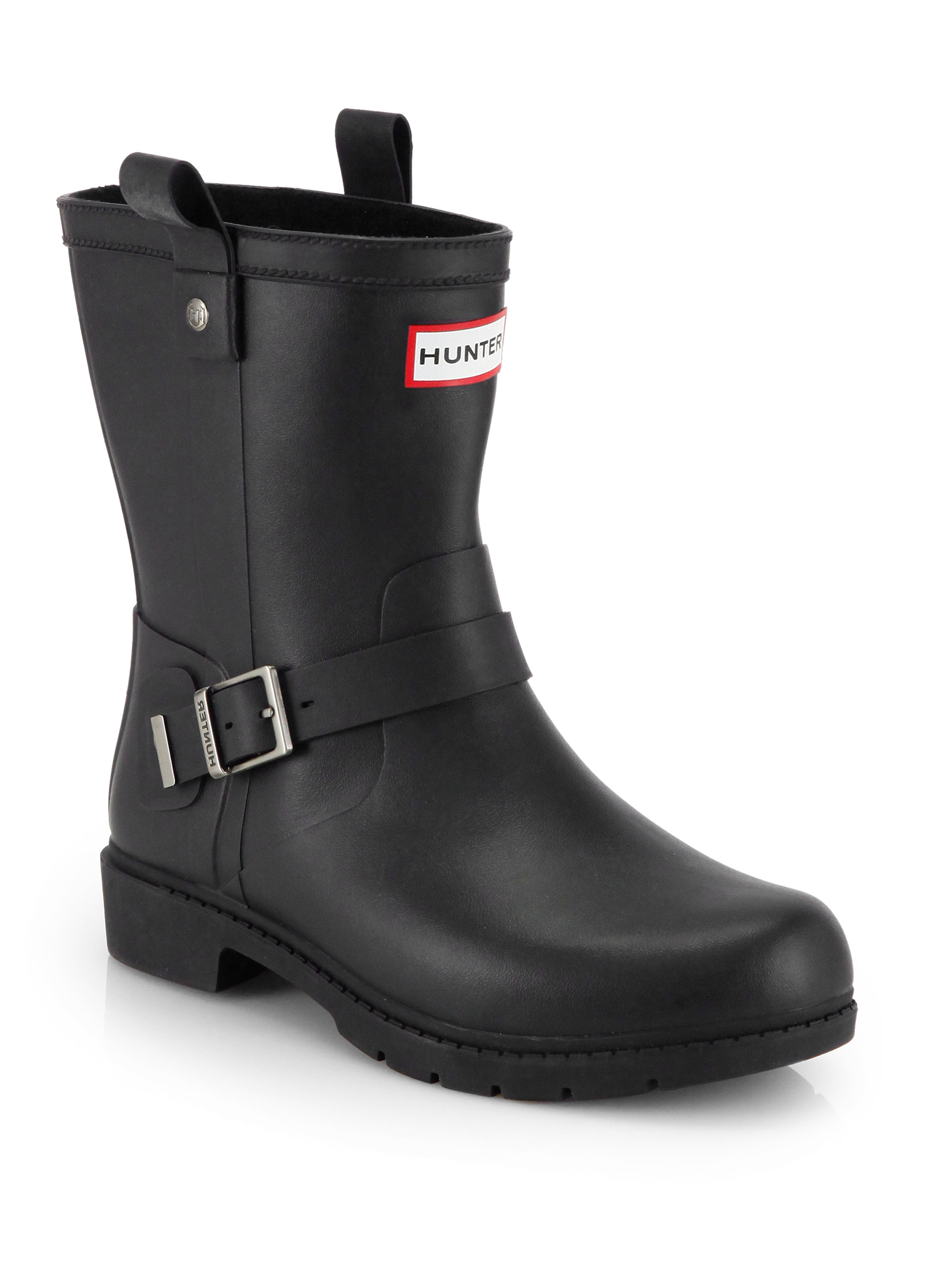 Hunter Shoreditch Rain Boots In Black Lyst