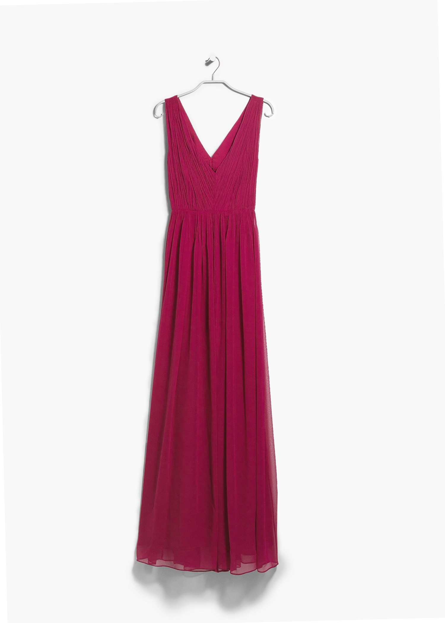 Lyst Mango Cut Out Ruched Dress In Red