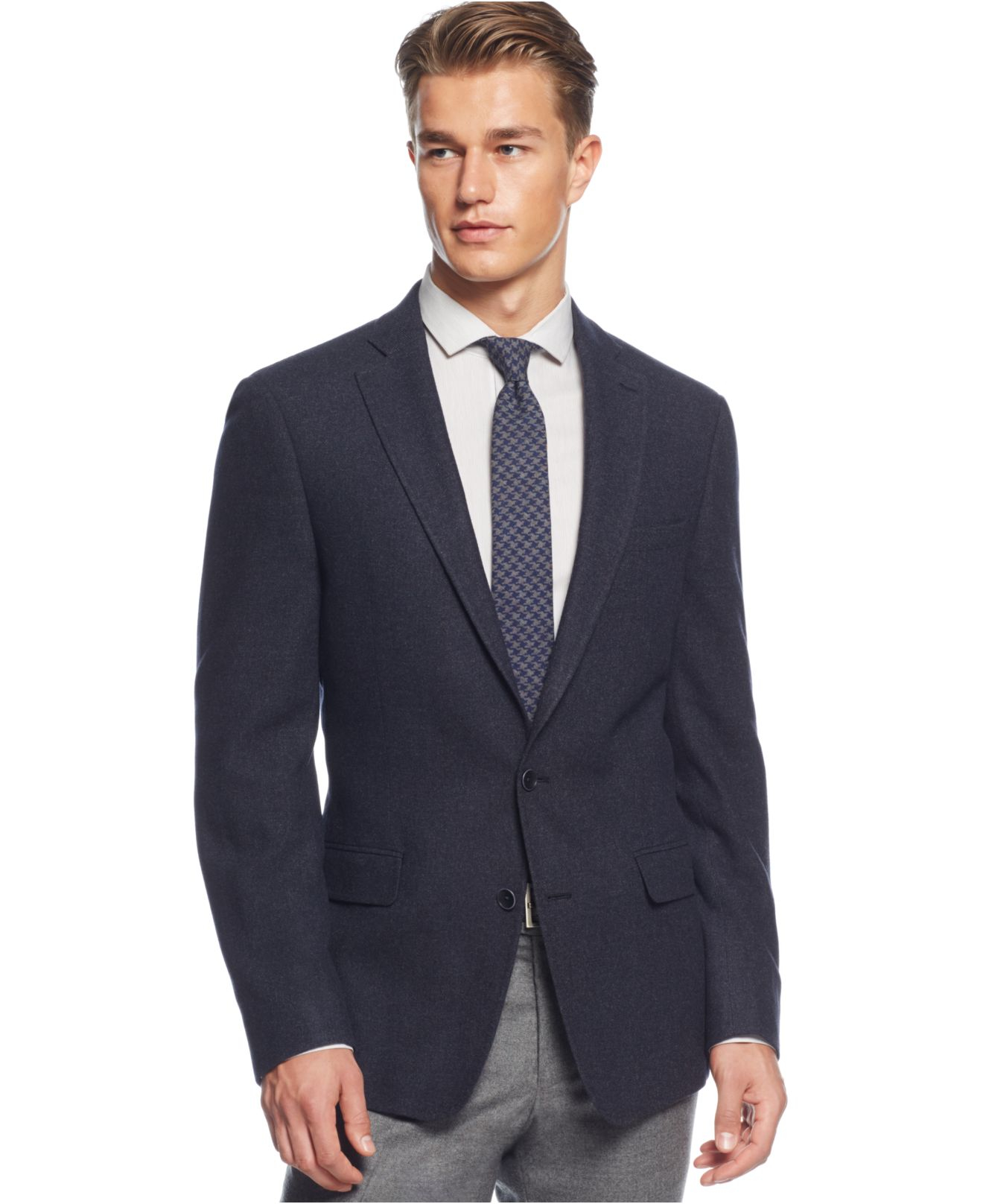 Dkny Navy Slim-fit Soft Sportcoat in Blue for Men | Lyst