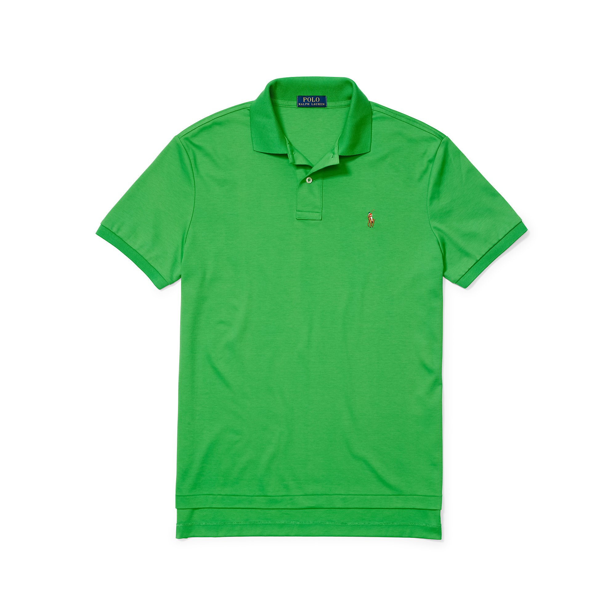 bc8fefc4c Polo Ralph Lauren Pima Soft-touch Polo Shirt in Green for Men - Lyst