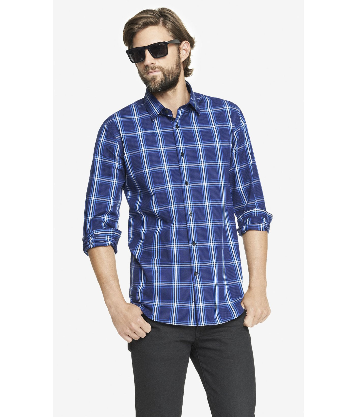 Shop blue dress shirt at Neiman Marcus, where you will find free shipping on the latest in fashion from top designers.