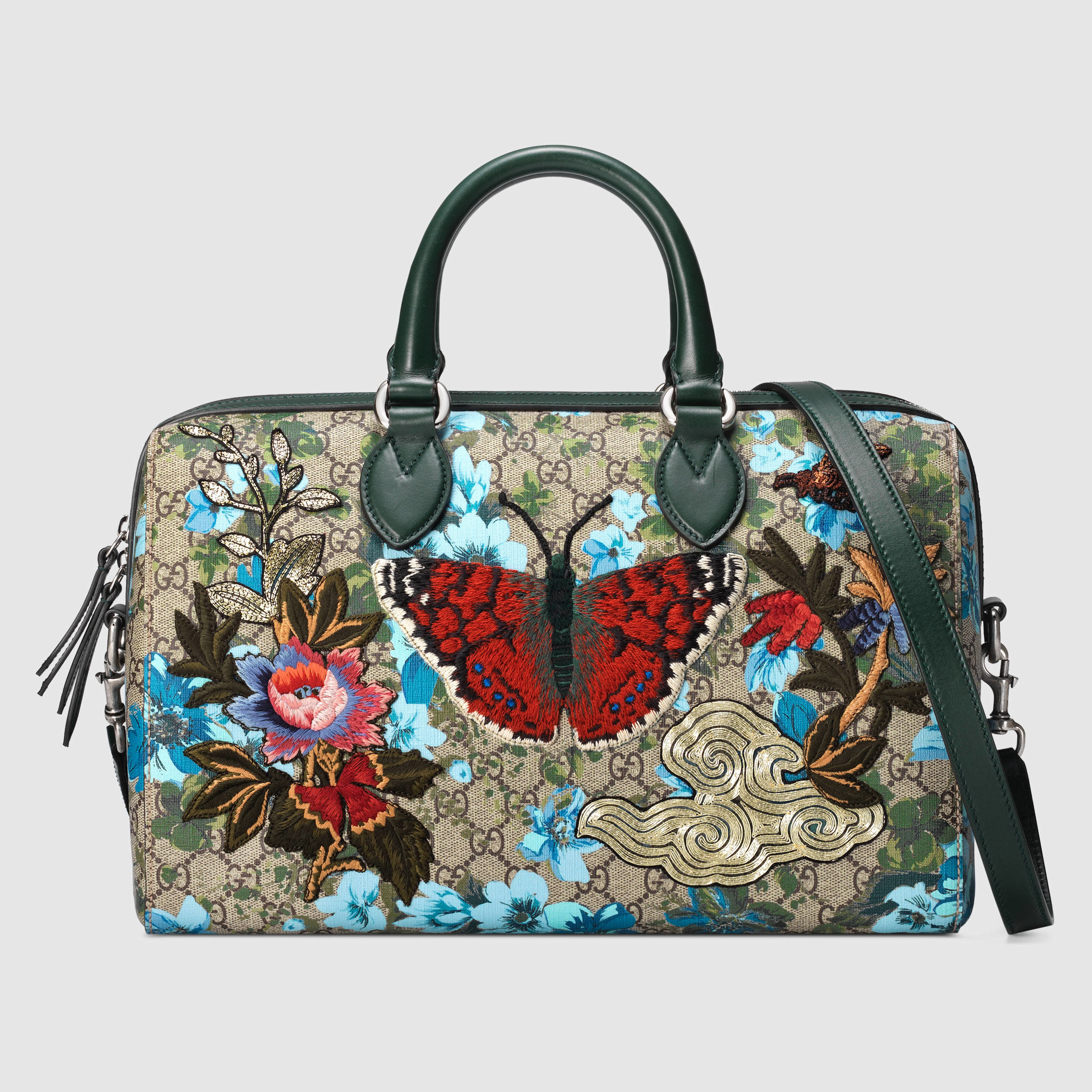 Gucci Gg Floral Print Top Handle   Lyst