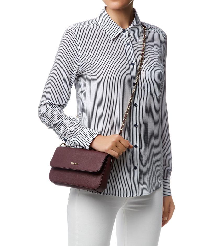 9ca16fc93bcf3 DKNY Small Bryant Park Flap Cross Body Bag in Purple - Lyst