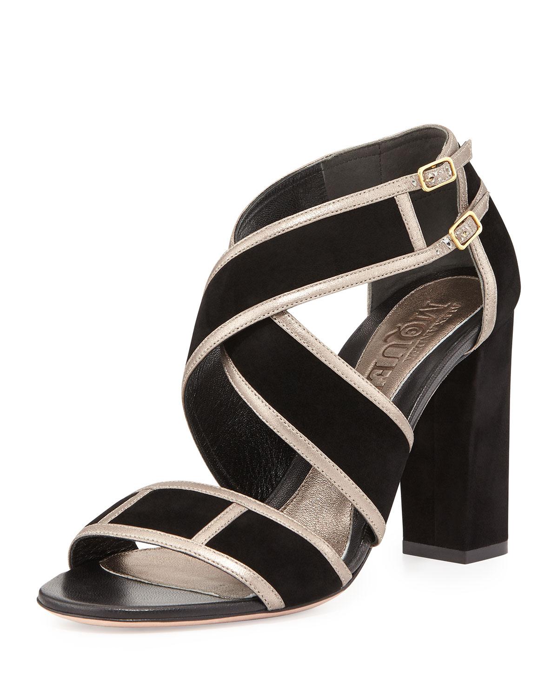 Alexander McQueen Womens Studded leather sandals Black