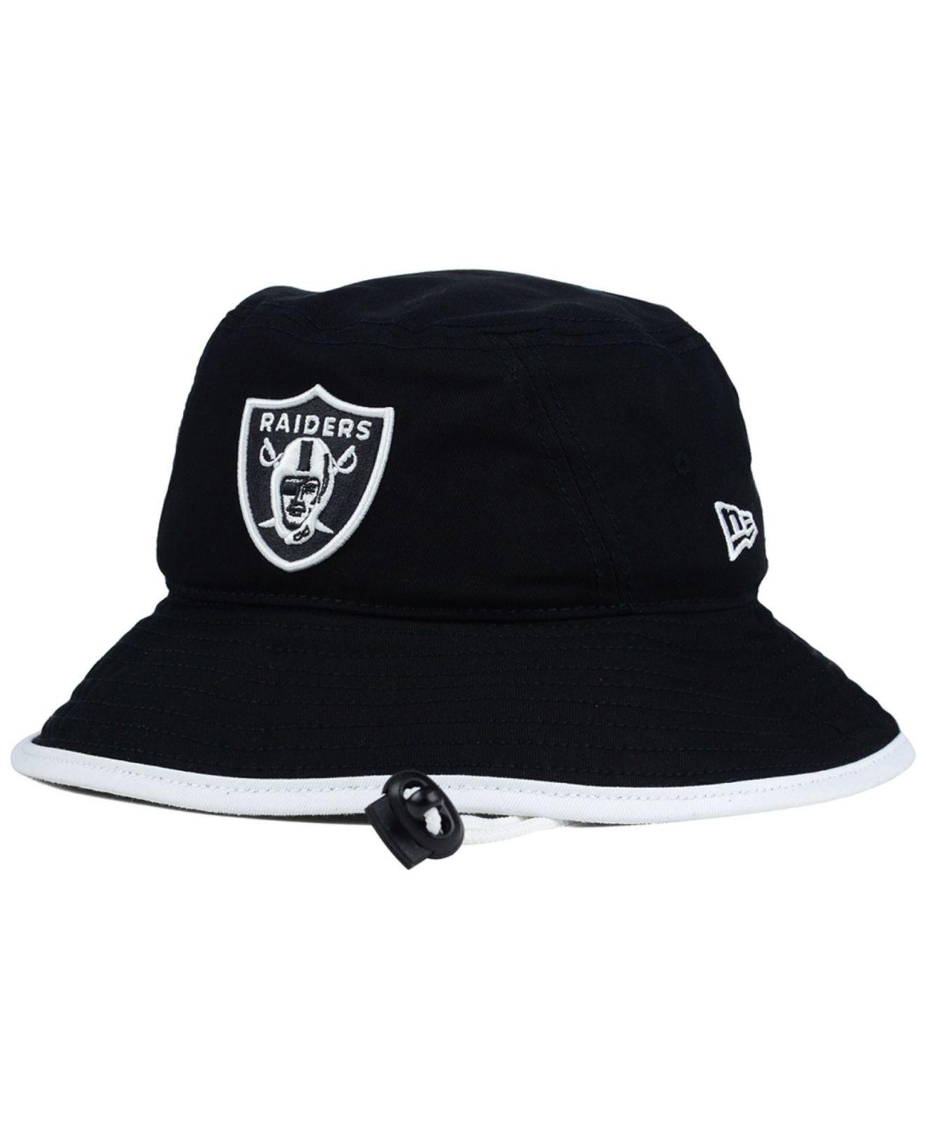 Lyst - KTZ Oakland Raiders Nfl Black White Bucket Hat in Black caf7088cd