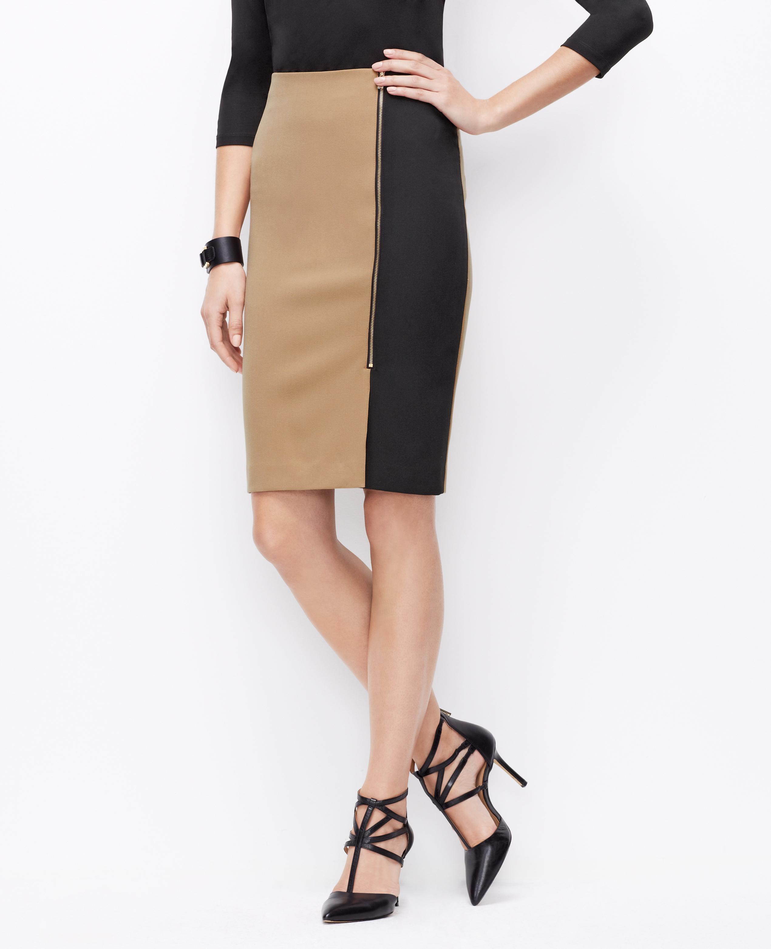 camel colored pencil skirt dress ala