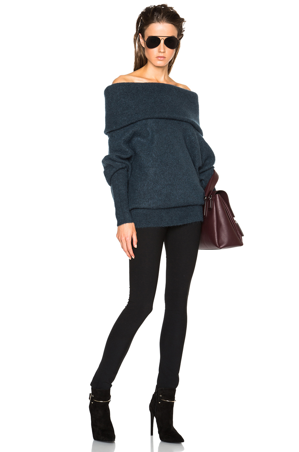 15f63152df62 Lyst - Acne Studios Daze Mohair Off The Shoulder Sweater in Blue