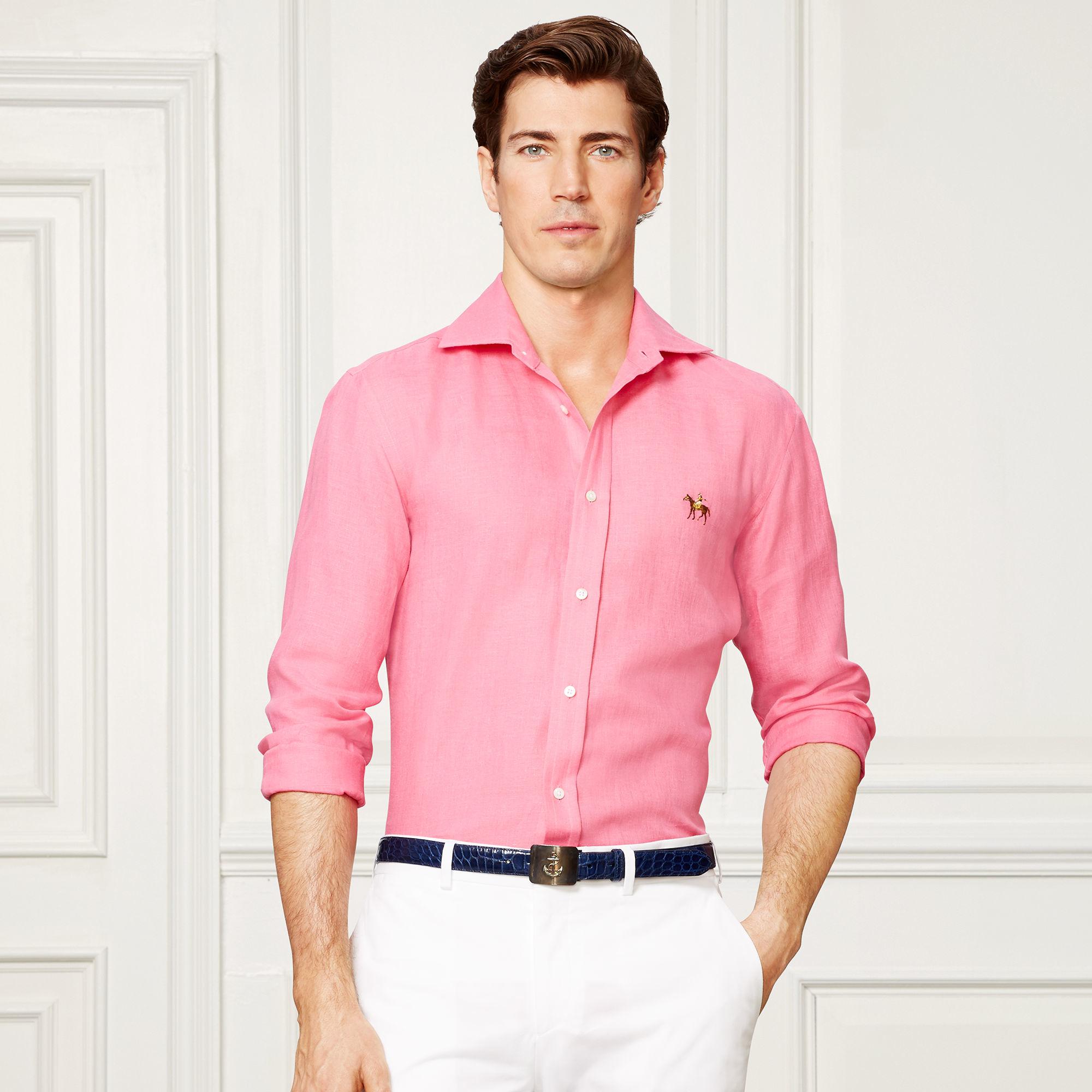 Pink Linen Shirt Custom Shirt