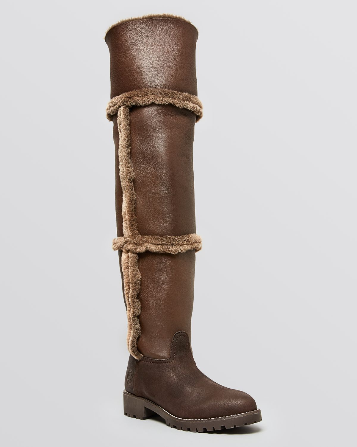 9dd6d2601 Lyst - Tory Burch Over The Knee Shearling Boots - Talouse Shearling ...