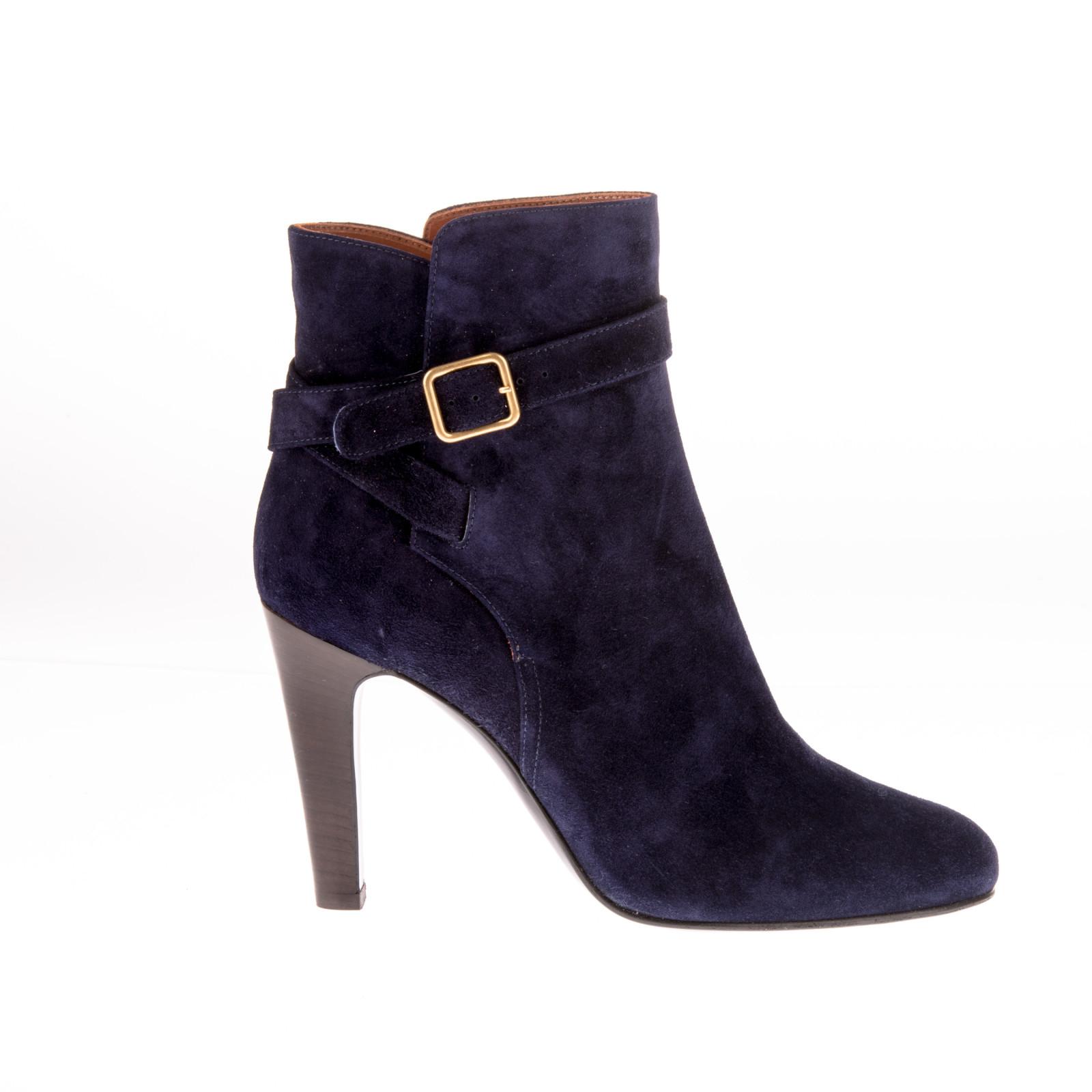 michel vivien shop blue suede heeled ankle