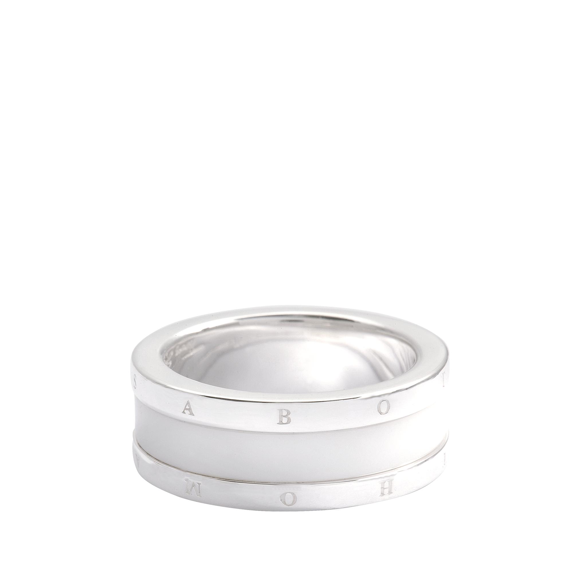 thomas sabo ceramic sterling silver ring in silver lyst. Black Bedroom Furniture Sets. Home Design Ideas