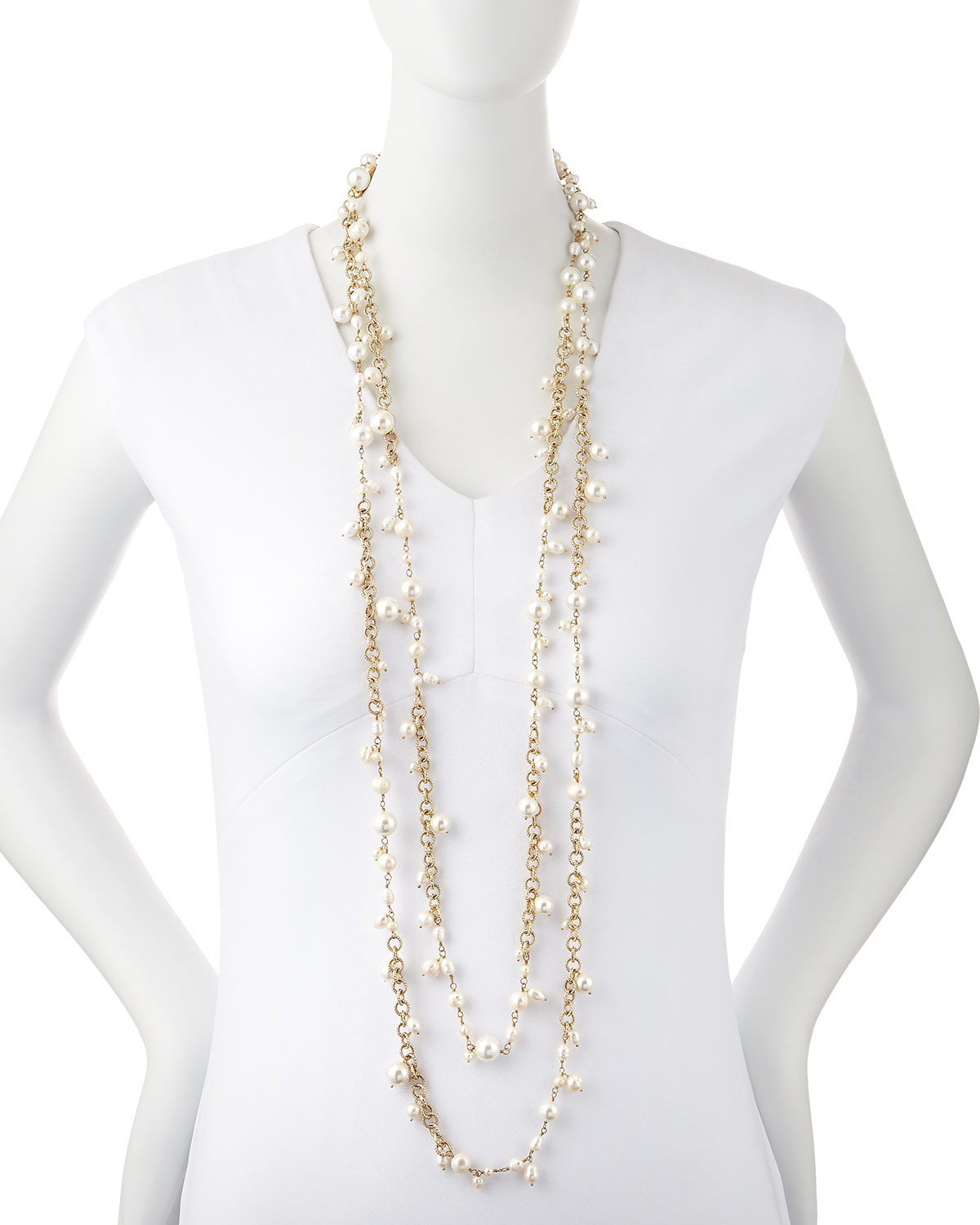 Multi Strand Pearl Necklace Source · Gallery