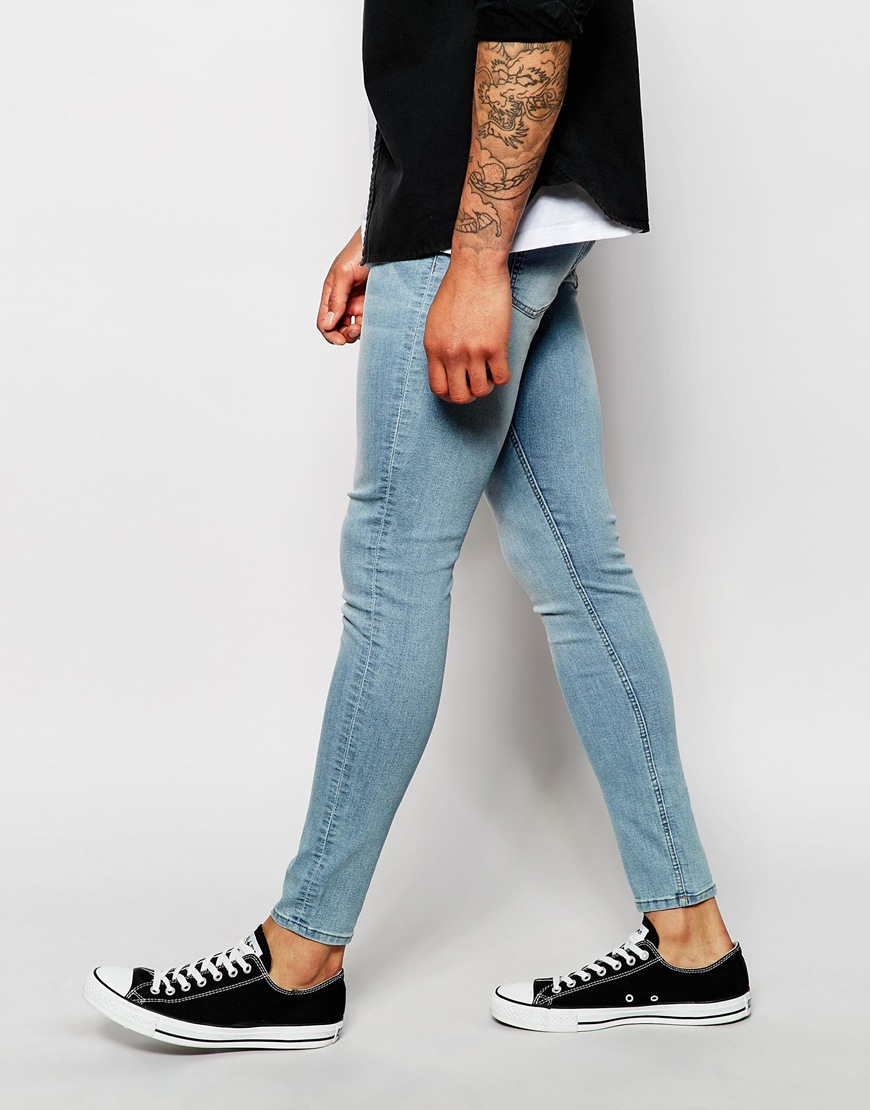 Cheap monday Jeans Mid Spray Extreme Skinny Fit Stone Bleach in ...