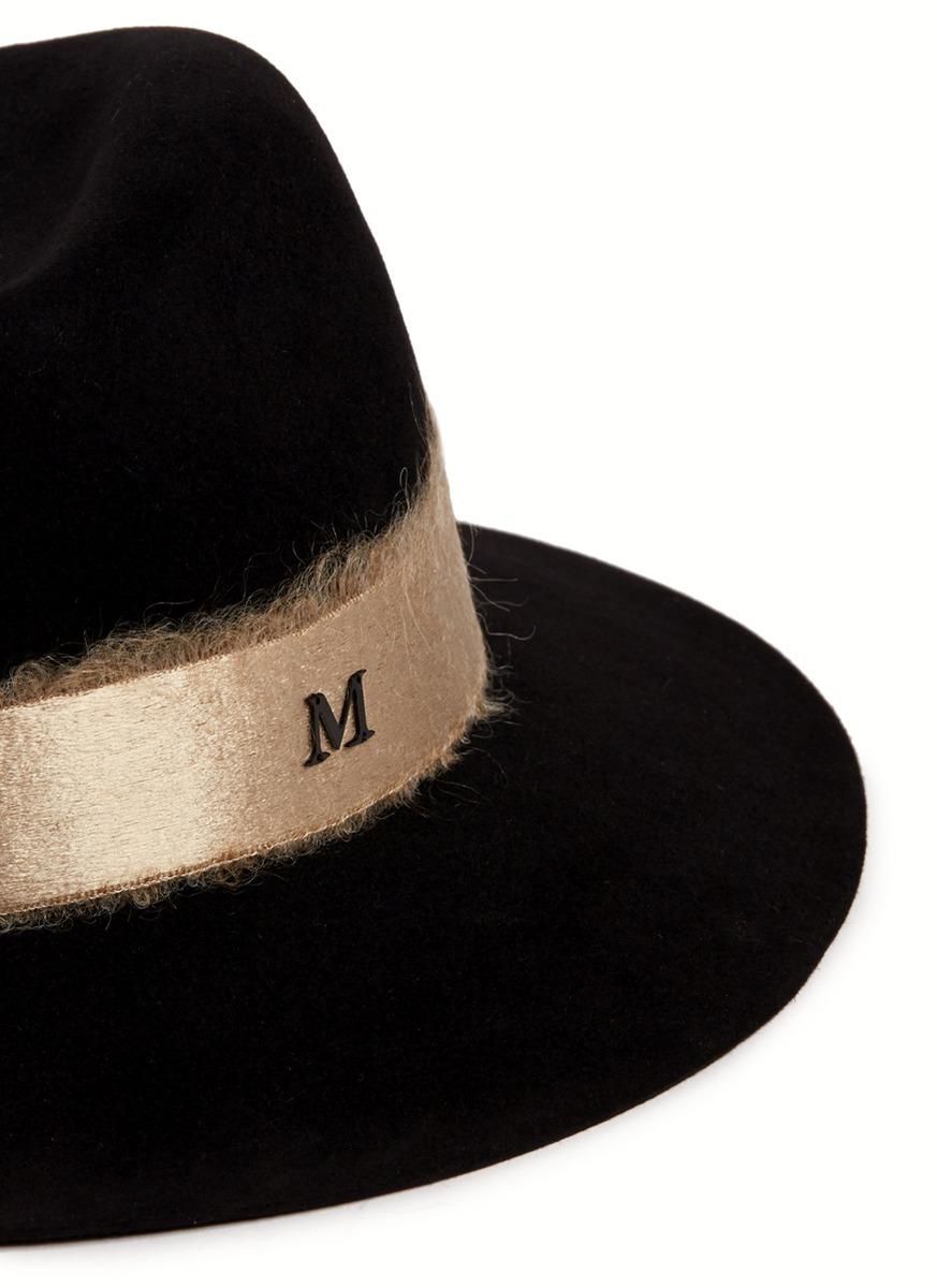 Lyst maison michel 39 henrietta 39 frayed satin band fur for Maison michel