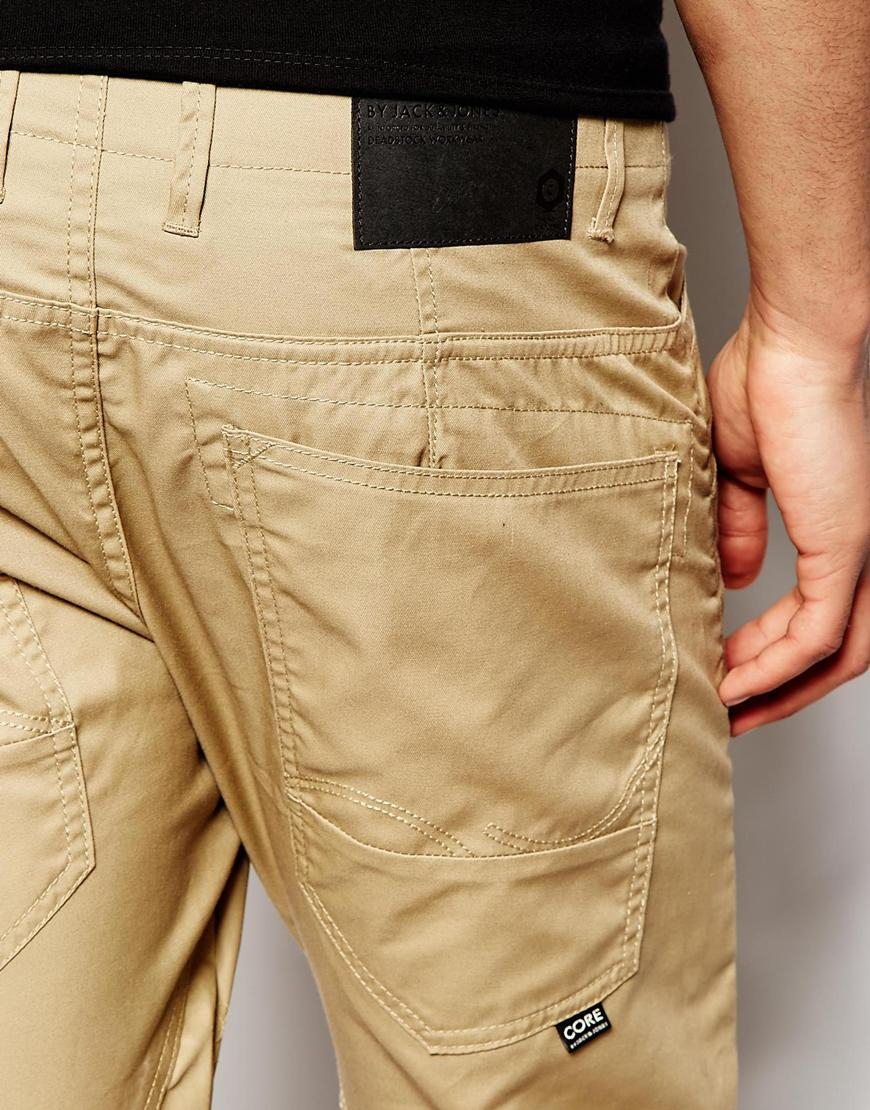 5f557f41a6a560 Lyst - Jack   Jones Anti Fit Chinos in Natural for Men