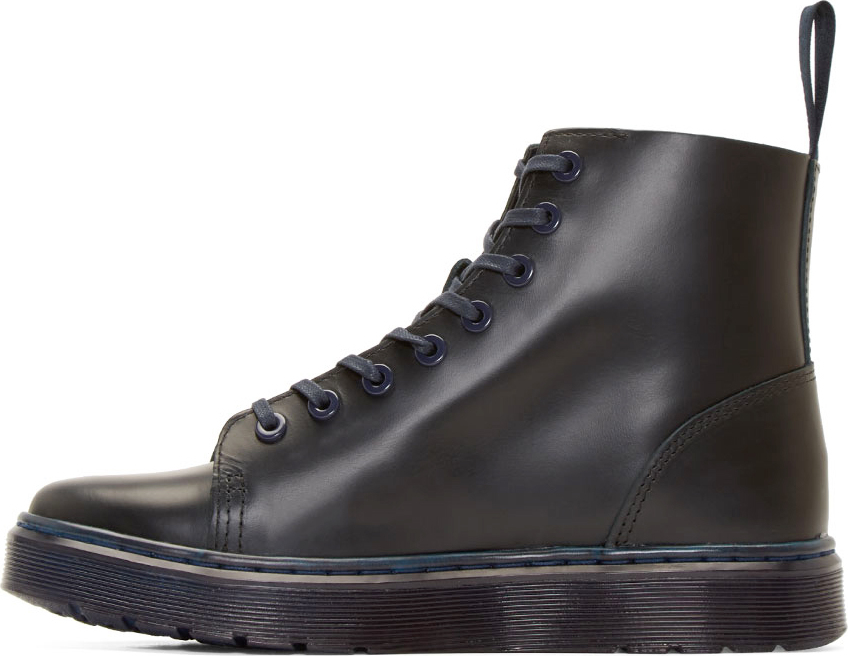 Dr Martens Navy 8 Eye Talib Boots In Blue For Men Lyst