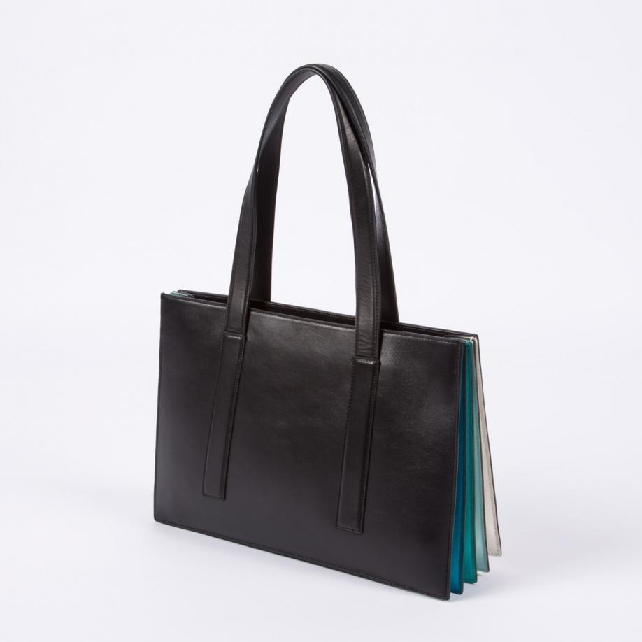 41b267e42f Lyst - Paul Smith Women s Black  concertina  Small Tote Bag in Black