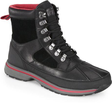 ugg hilner laceup waterproof boots in black for men lyst