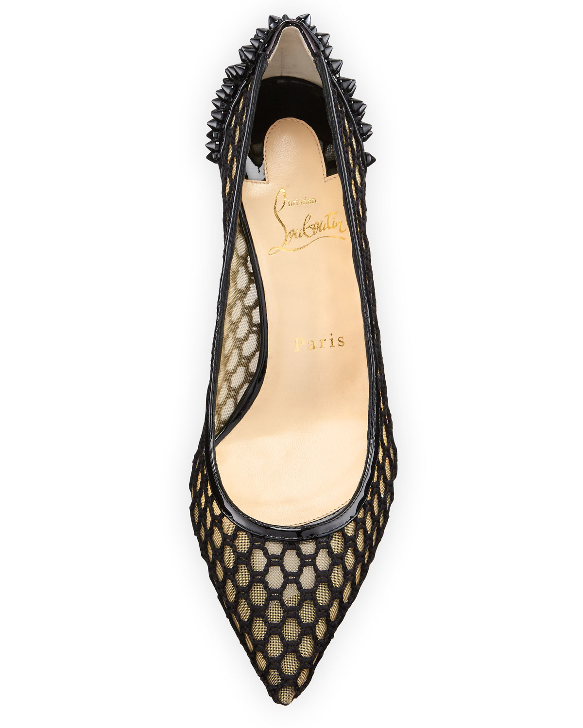 d8eddc91102 vuitton shoes replica - Christian louboutin Guni Mesh Spike 55mm Red Sole  Pump in Beige .