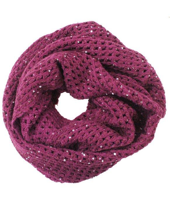 La fiorentina Ruby Open Crochet Infinity Muffler W ...