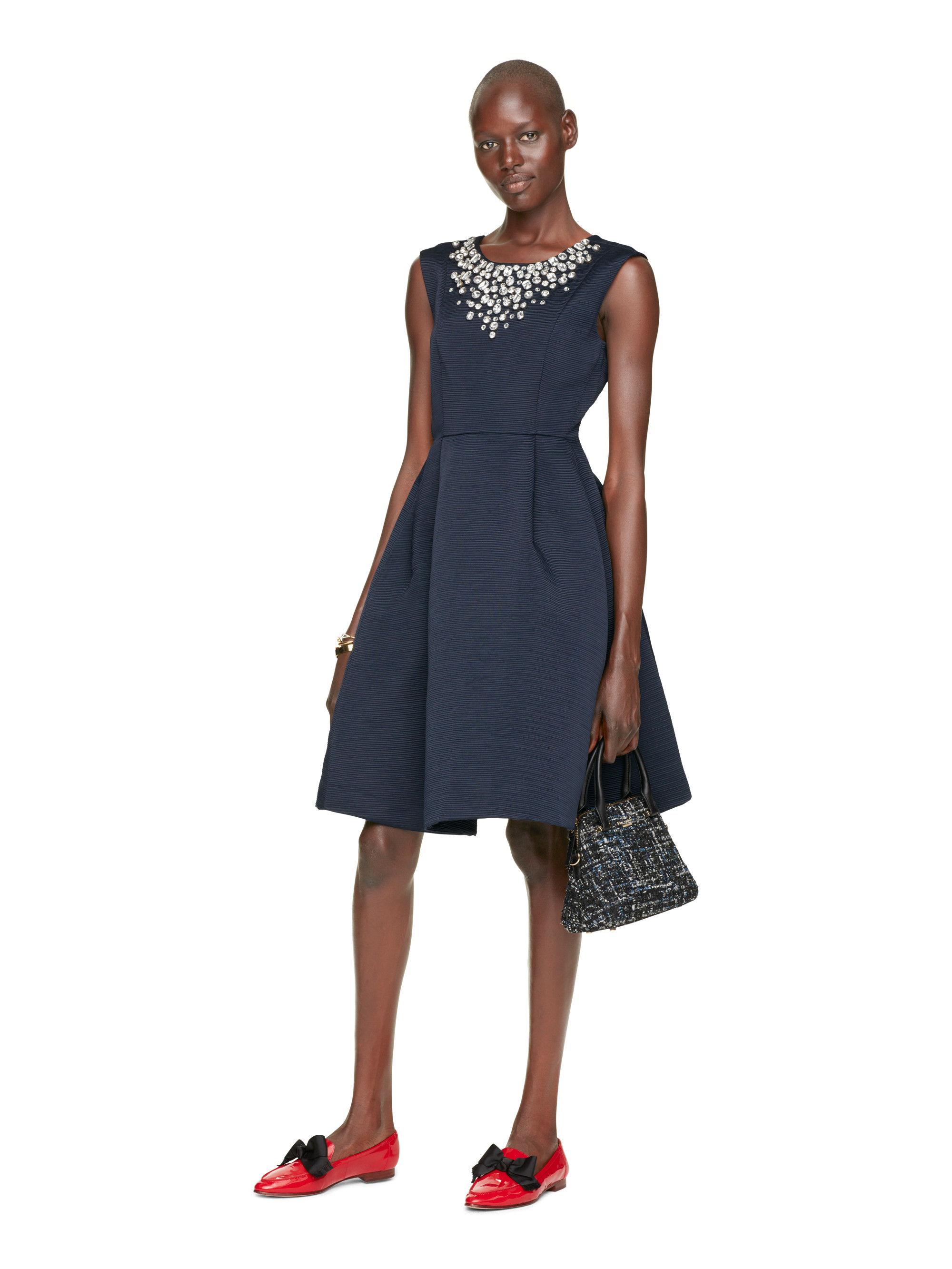79839ade9c8b Kate Spade Embellished Cambria Dress in Blue - Lyst