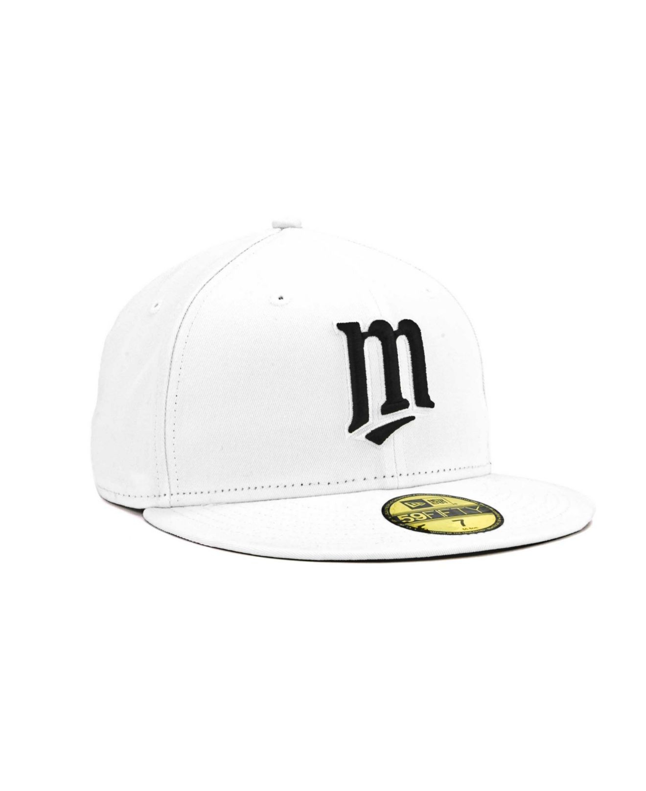 Lyst - Ktz Minnesota Twins Mlb White And Black 59fifty Cap in White ... b2afab3101e1