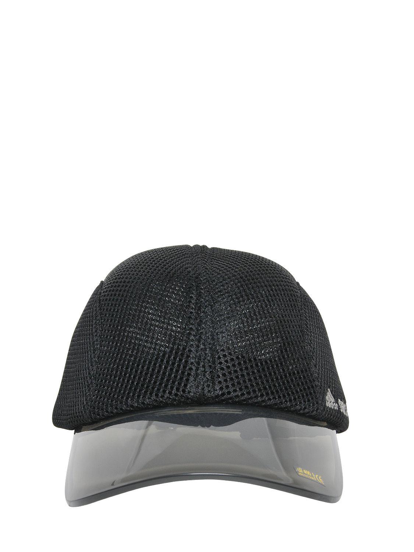 Lyst - adidas By Stella McCartney Mesh   Pvc Running Hat in Black 267e1a0e40
