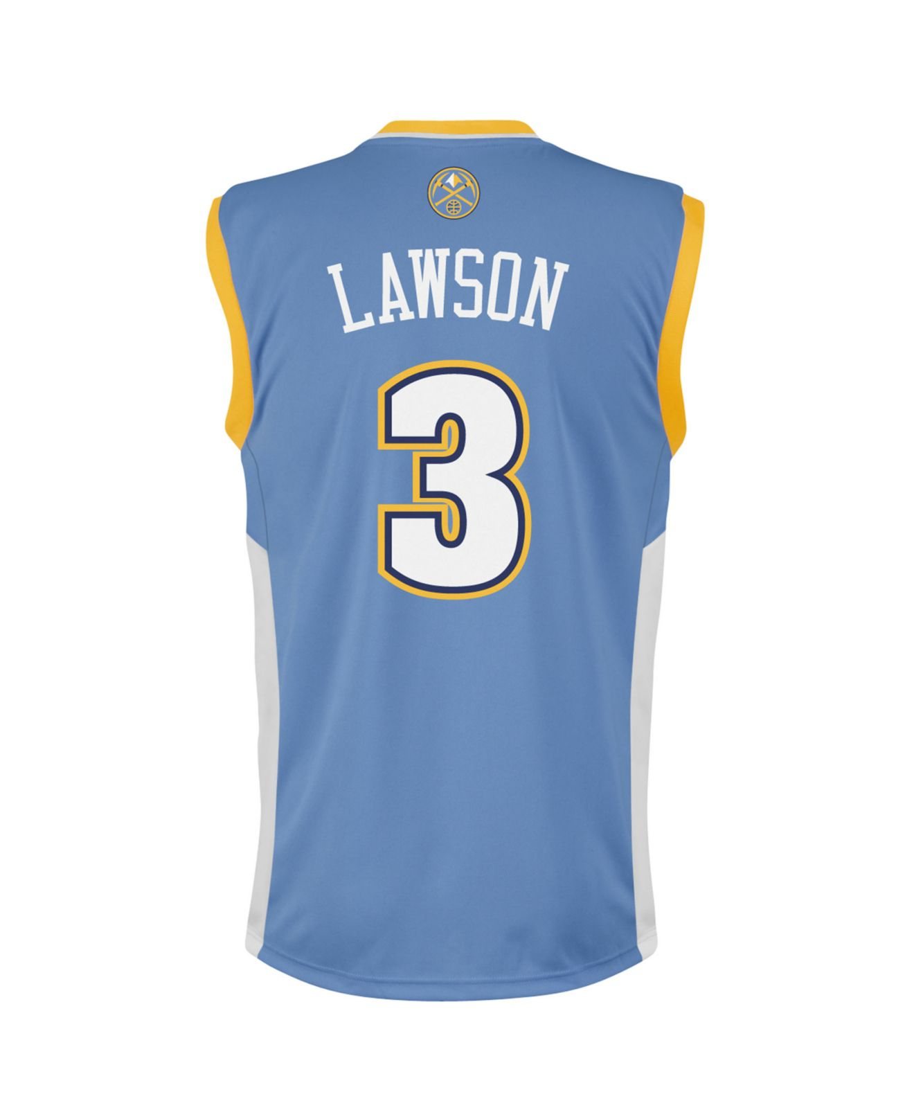 fd15a4902 ... cheap lyst adidas mens denver nuggets ty lawson jersey in blue for men  4ffd0 06833