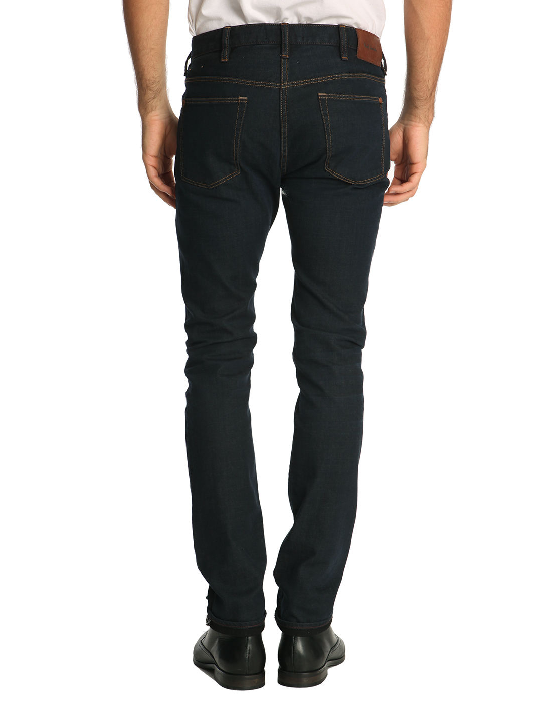 paul smith regular slim fit raw jeans in blue for men lyst. Black Bedroom Furniture Sets. Home Design Ideas