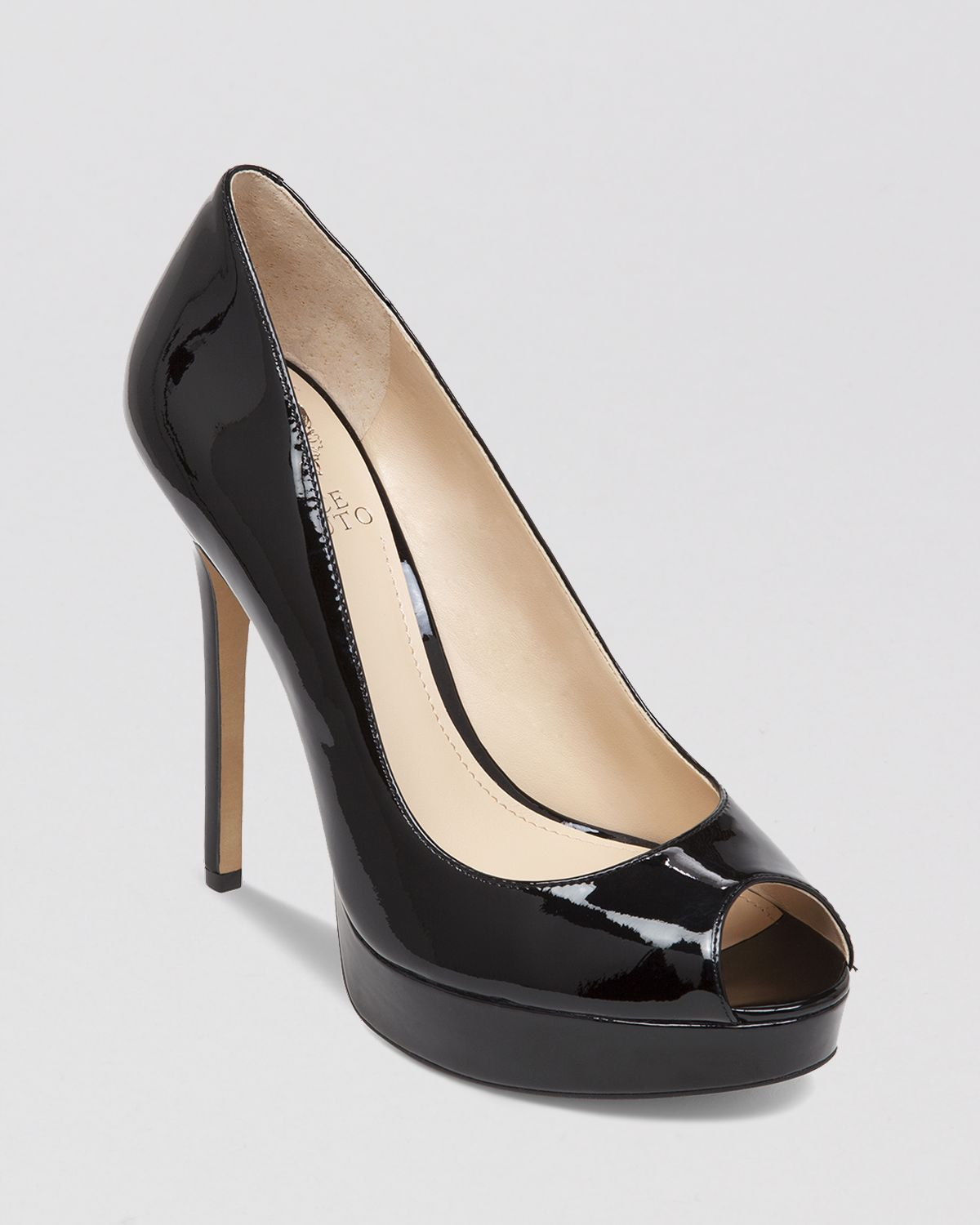 Vince camuto Peep Toe Platform Pumps - Lorim High Heel in Black | Lyst