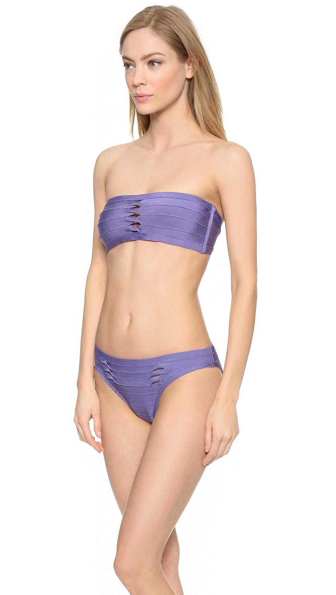 5680ac005821 Lyst - Hervé Léger Irina Bandeau Bikini Top - Lilac in Purple