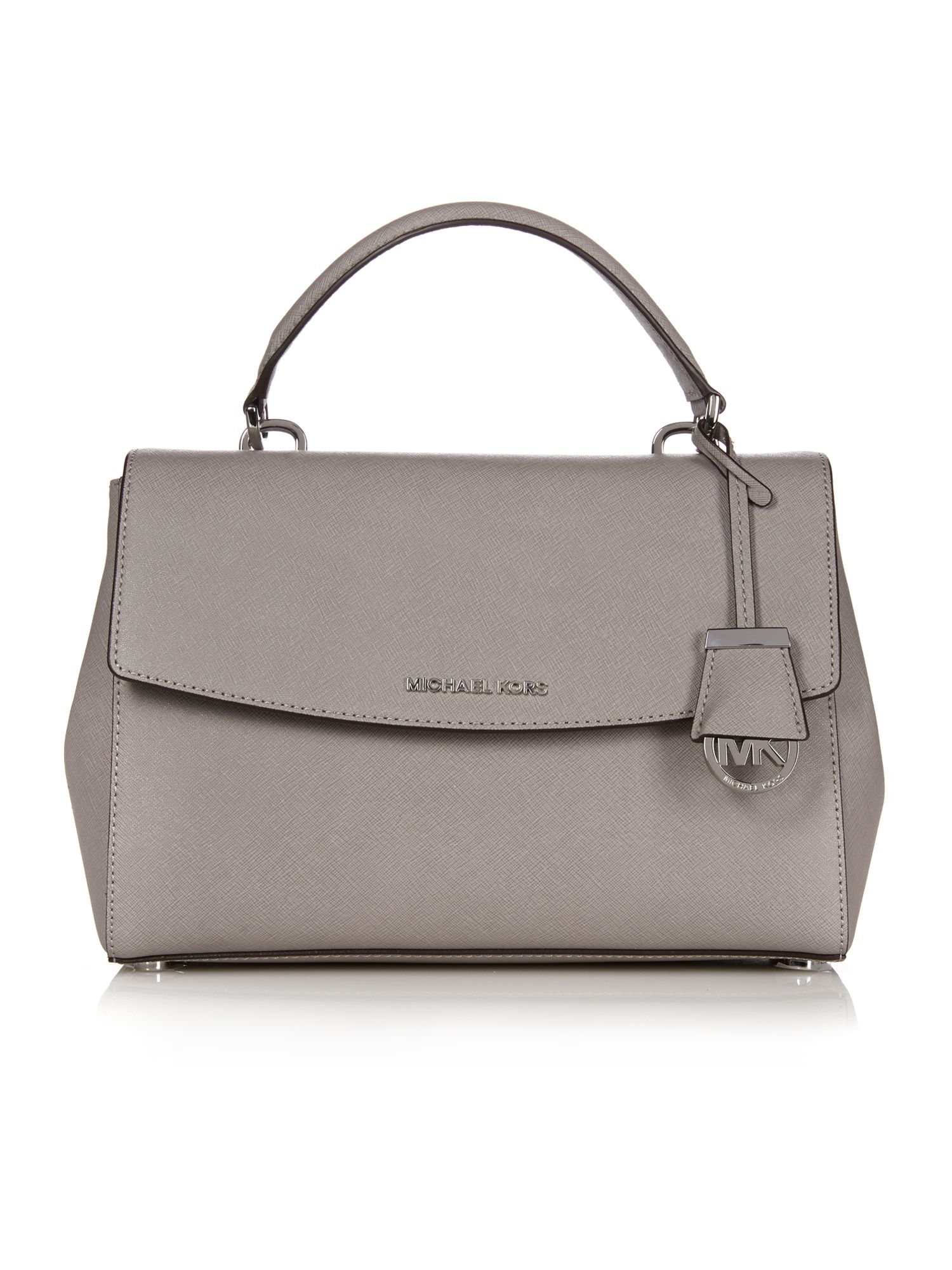 02bf1b1b10ee ... where to buy lyst michael kors riley grey slouch tote bag in gray baef6  8d248