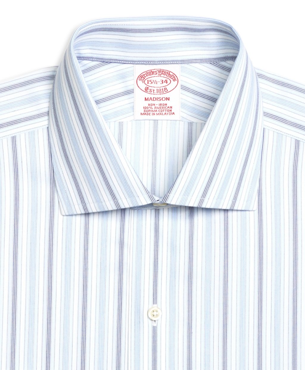 Brooks brothers non iron madison fit hairline framed for Light blue french cuff dress shirt