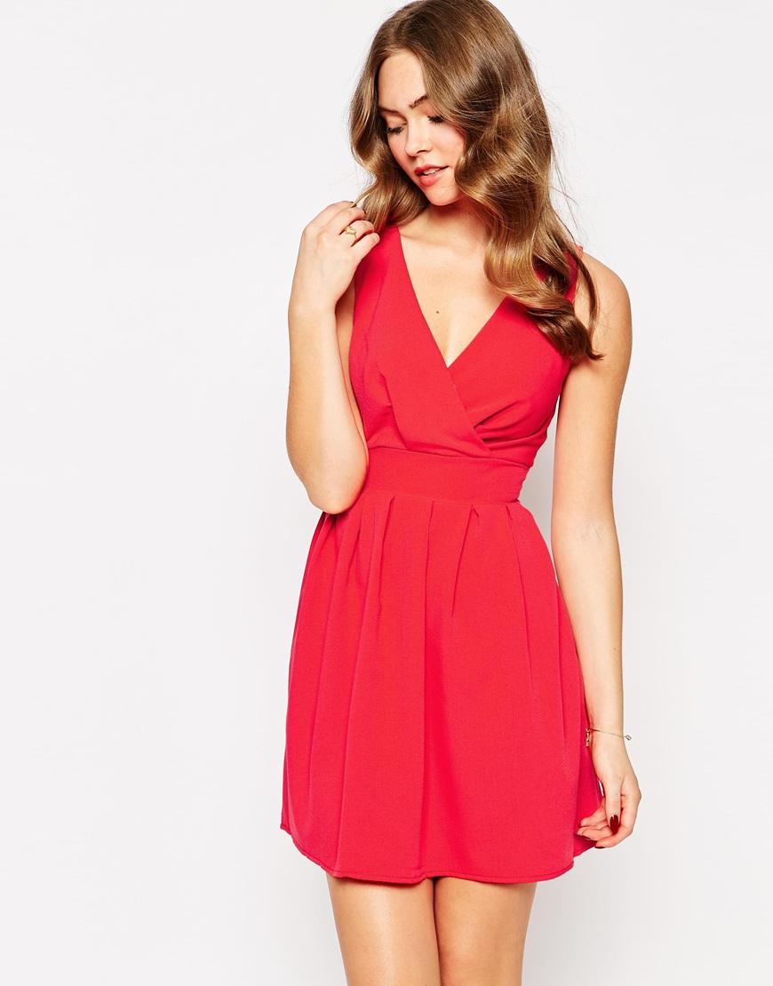 Wal g red maxi dress