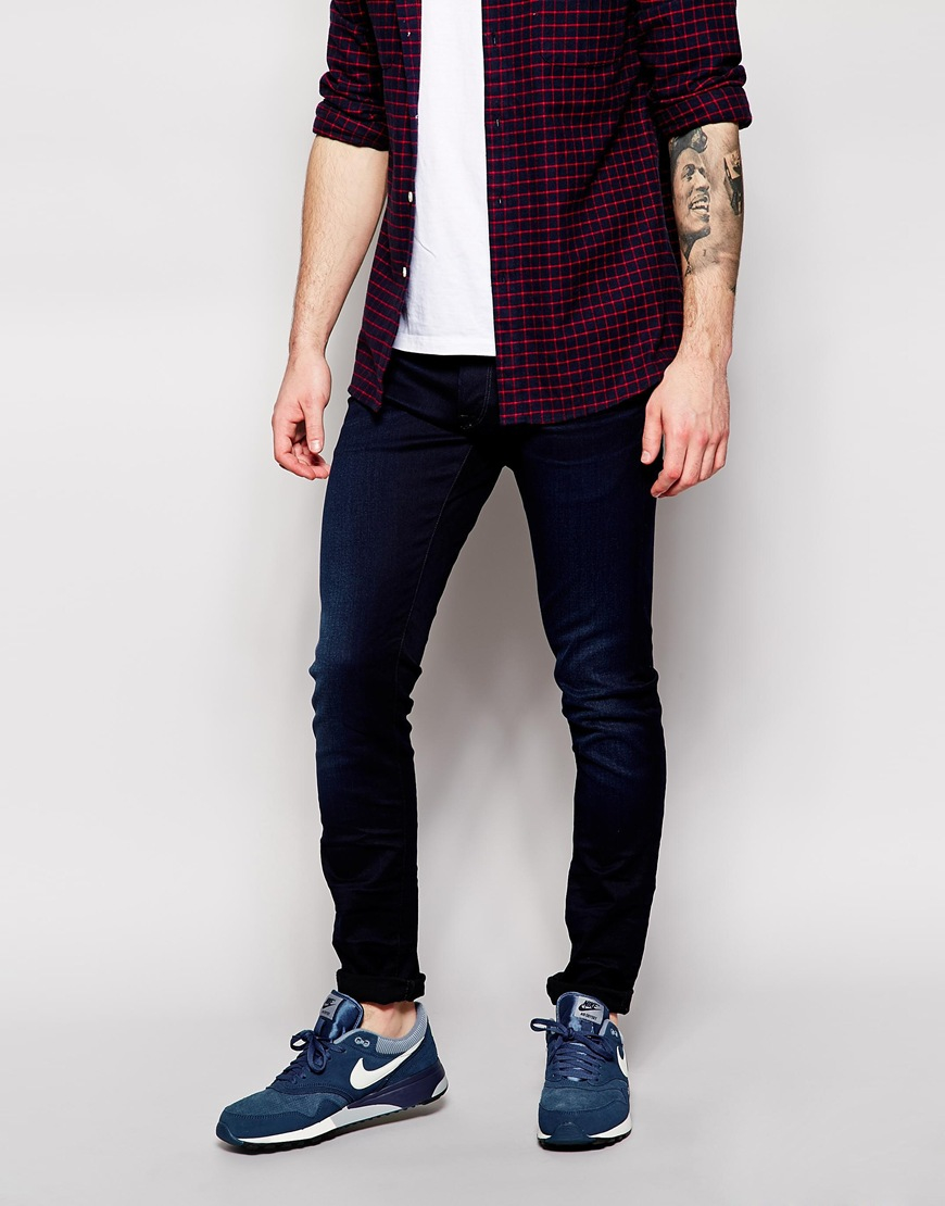 g star raw jeans 3301 super slim fit stretch dark wash in. Black Bedroom Furniture Sets. Home Design Ideas