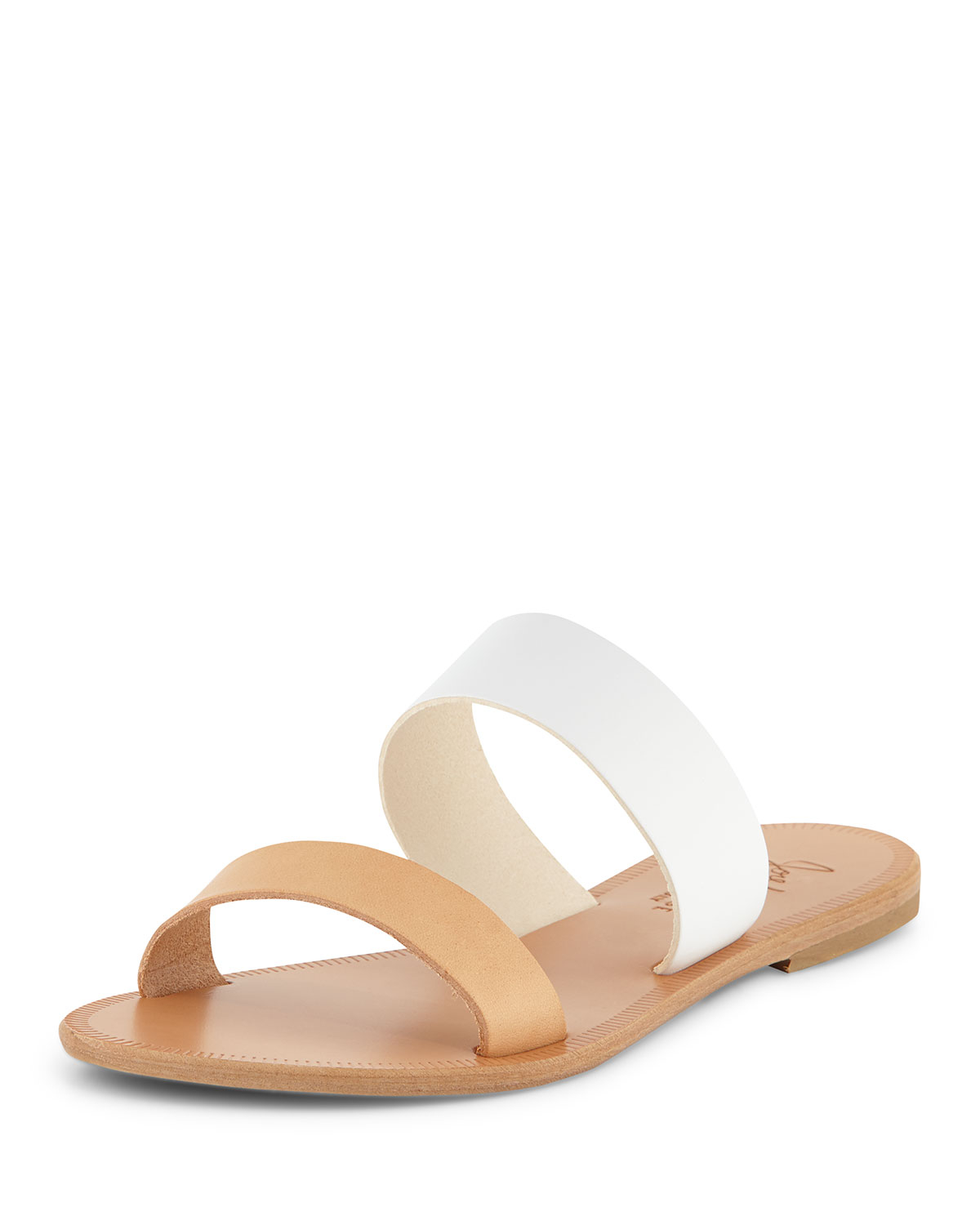 Lyst Joie Sable Two Tone Flat Sandal Slide In White