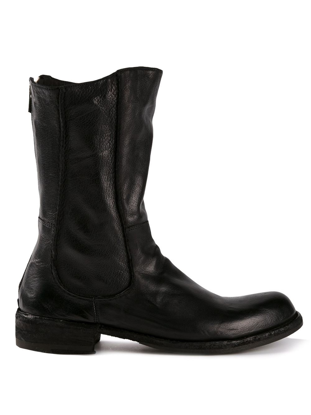 Lyst Officine Creative Legrand Mid Calf Boots In Black