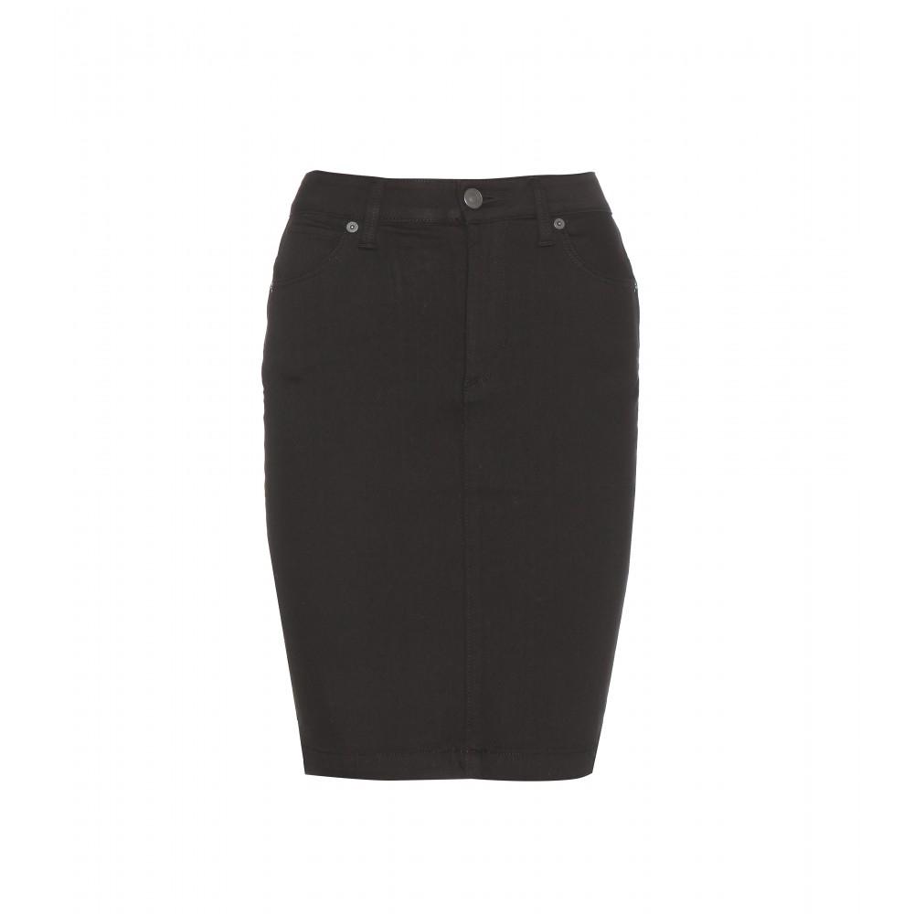 efdb0472b7 Burberry Brit Denim Pencil Skirt in Black - Lyst