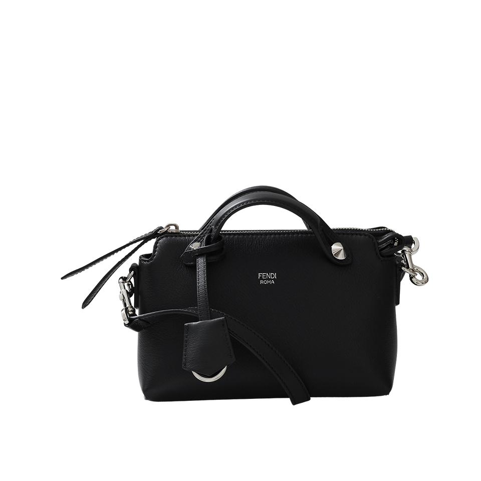 Fendi By The Way Boston Mini Leather Bag in Black  c814a201a38b5