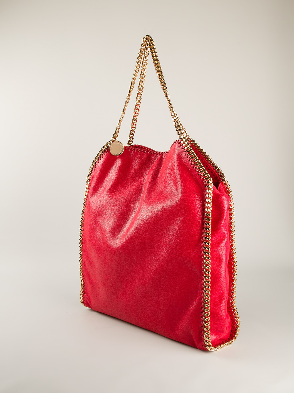 Lyst Stella Mccartney Falabella Large Shoulder Bag In Red