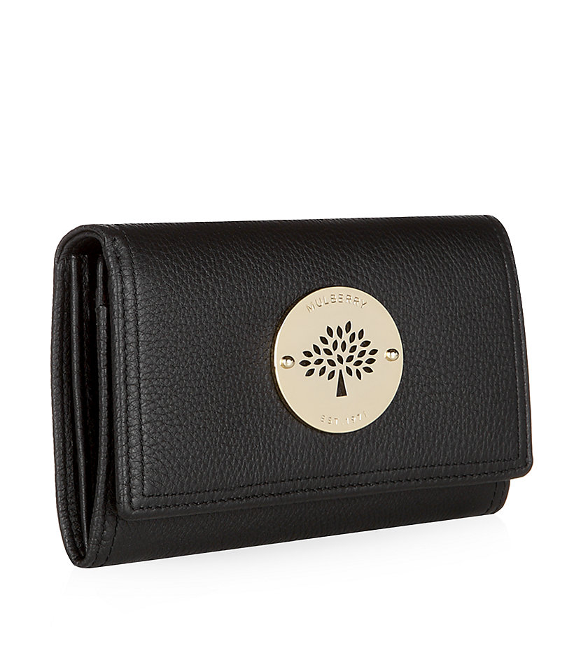 ... coupon code mulberry daria french purse in black lyst ac018 53b44 ba75a167af