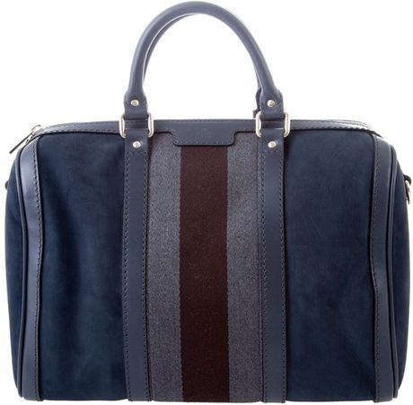 Gucci Leather Bag in Blue (grey)