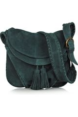 Vanessa Bruno Suede Tassel Shoulder Bag - Lyst