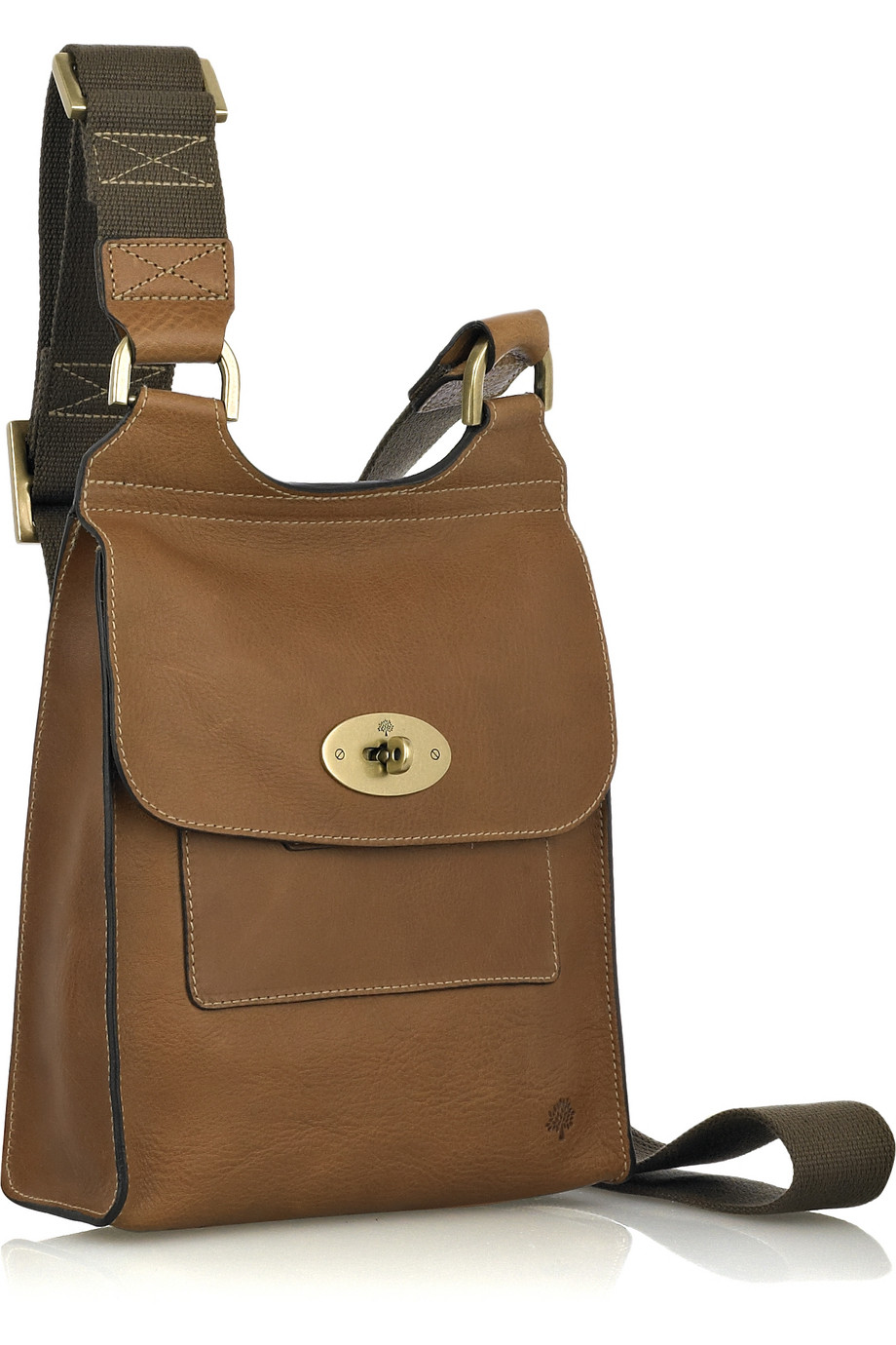 f702676ff880 Mulberry Antony Leather Cross-body Bag in Brown - Lyst
