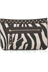 Temperley London Zebra-print Canvas Clutch - Lyst