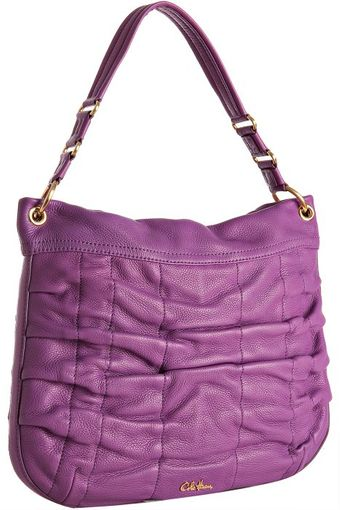 Cole Haan Purple Leather Bailey Pocket Hobo - Lyst