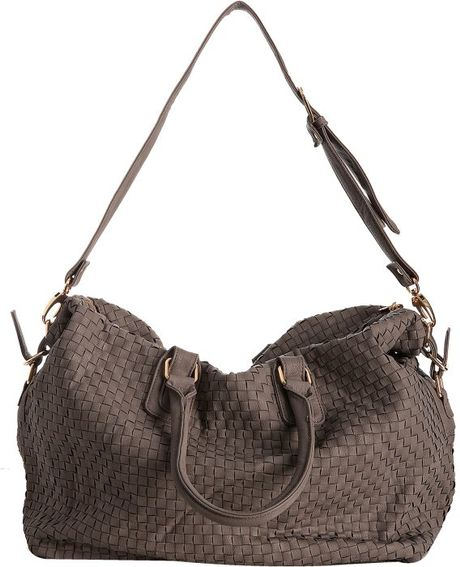 Deux Lux Clay Woven Faux Leather Luella Overnight Bag In
