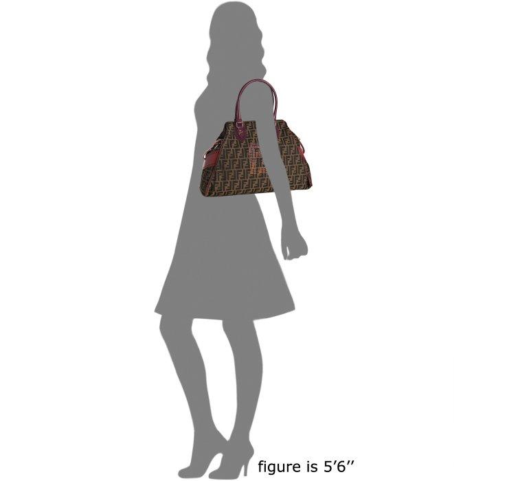 9e03e1fd84be Fendi Purple and Red Trim Zucca Canvas Bag De Jour Tote in Brown - Lyst