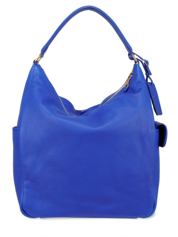 Saint laurent Roady Hobo Bag in Blue | Lyst