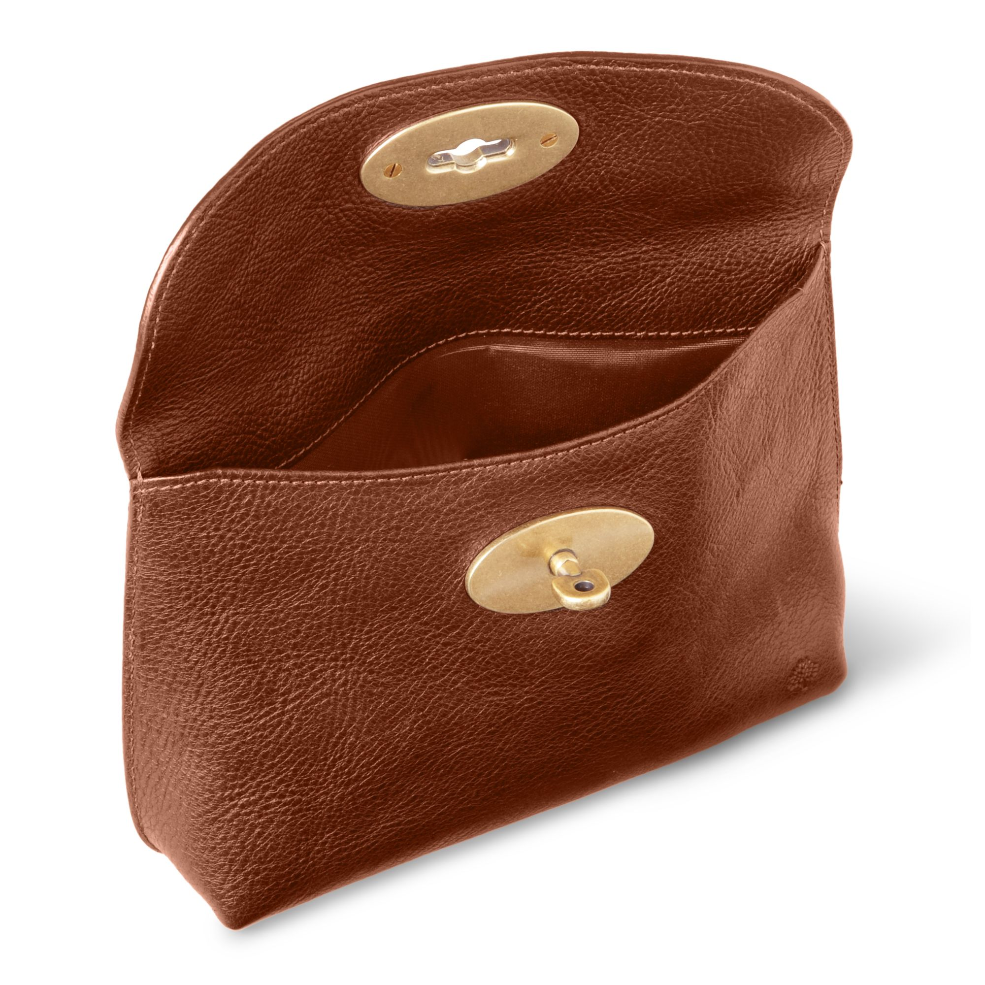 9ae358f0ab store medium lily oak natural leather lily mulberry mulberry locked  cosmetic purse in brown lyst 9d6ab